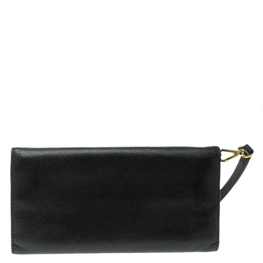 Alexander McQueen Black Leather Trifold Continental Wallet Image 1