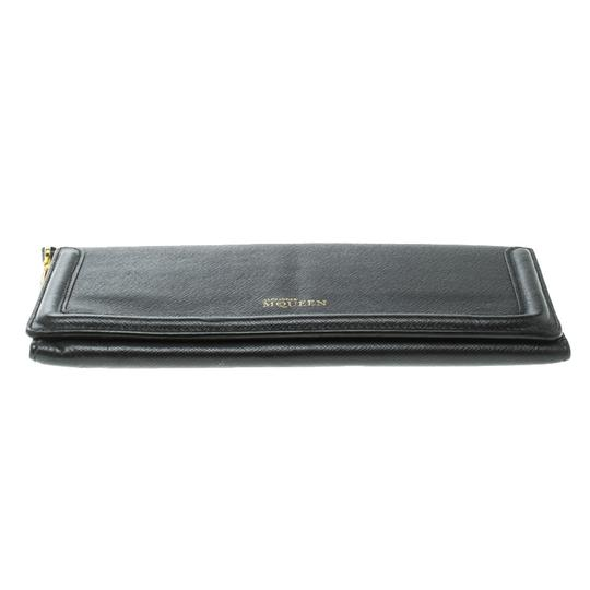 Alexander McQueen Black Leather Trifold Continental Wallet Image 4