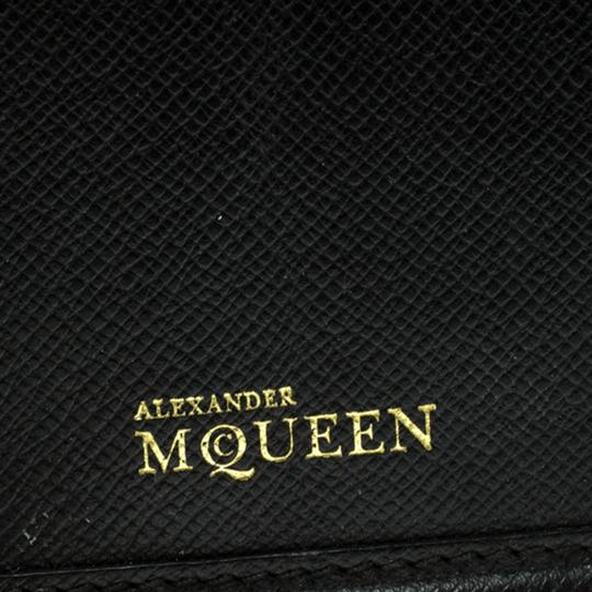 Alexander McQueen Black Leather Trifold Continental Wallet Image 5
