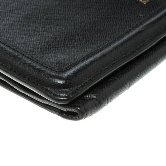Alexander McQueen Black Leather Trifold Continental Wallet Image 6