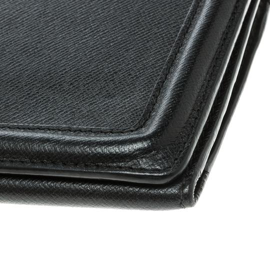 Alexander McQueen Black Leather Trifold Continental Wallet Image 7