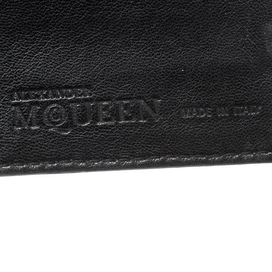 Alexander McQueen Black Leather Trifold Continental Wallet Image 8