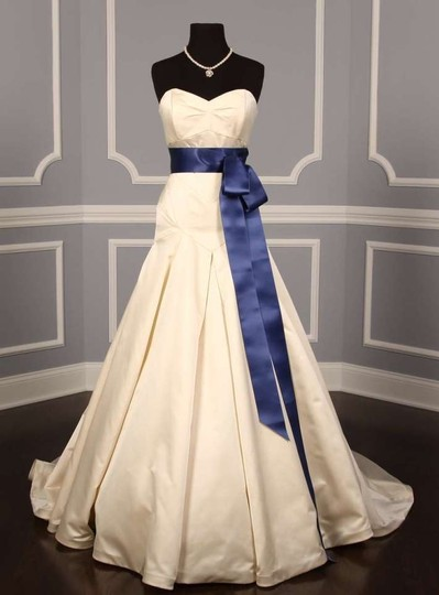 Demin Blue Ribbon Sash
