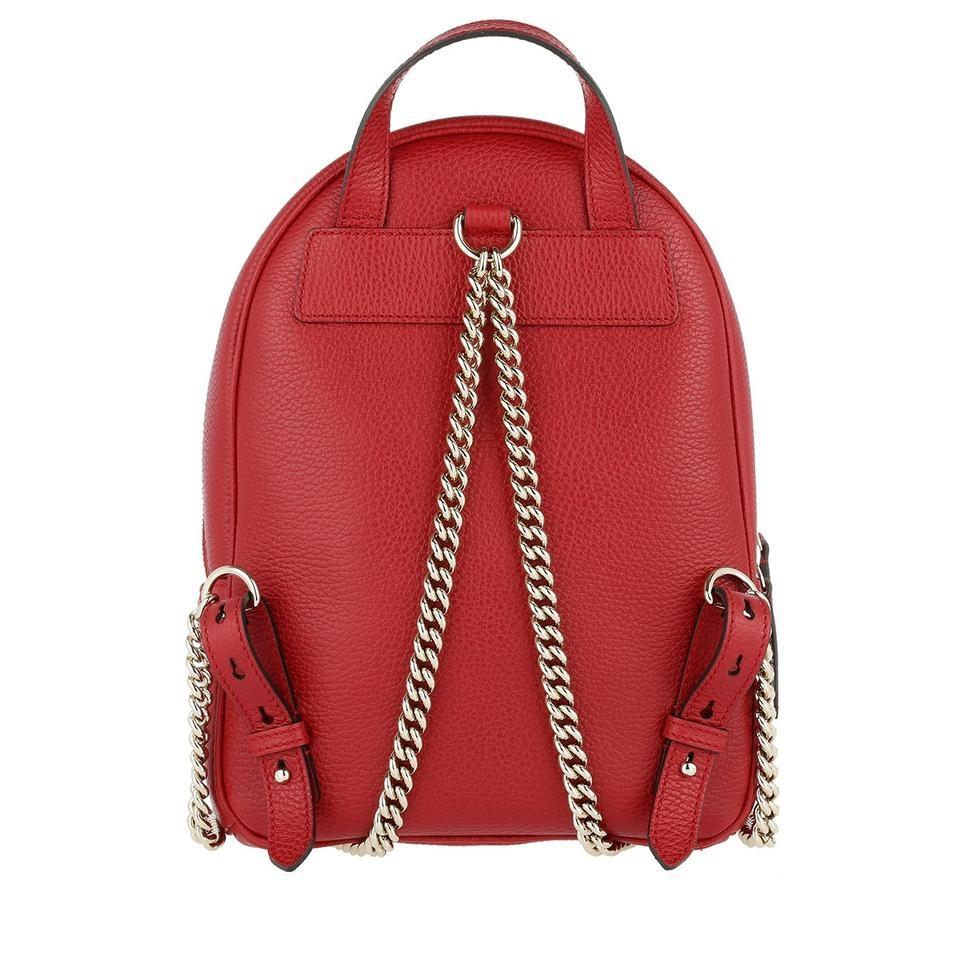 41dbf11829e Gucci Soho New Gg Logo Tote Red Leather Backpack - Tradesy