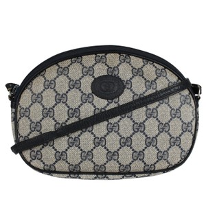 Gucci Gg Monogram Canvas Vintage Cross Body Bag