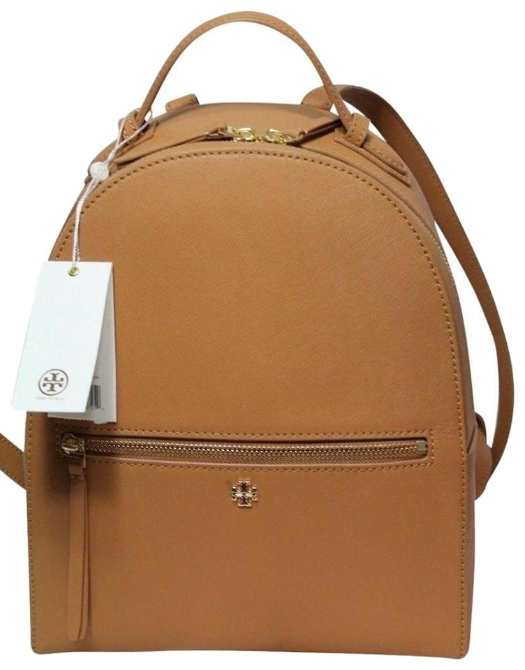 3e90741bd7 Tory Burch New Tote Beige Brown Tan Saffiano Leather Backpack