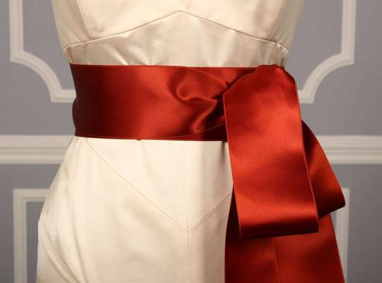 Rust Red Ribbon Sash Sashes