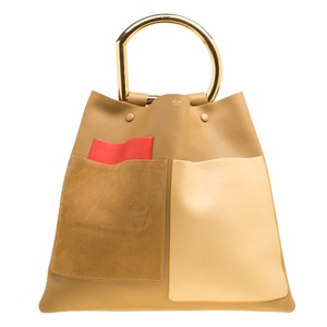 Céline Suede Leather Tote in Multicolor
