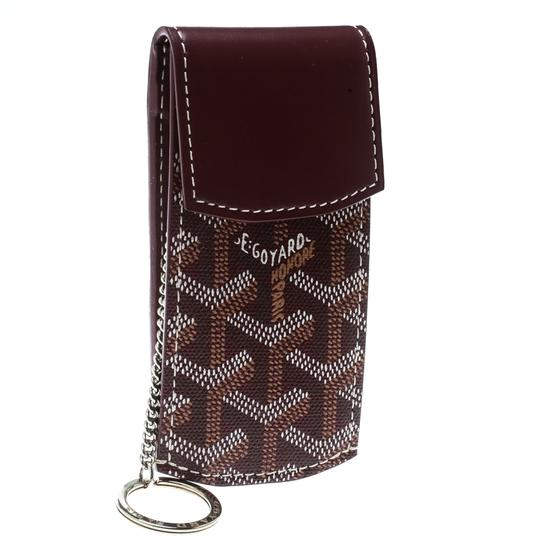 Goyard Burgundy Coated Canvas Portier GM Key Pouch Image 2