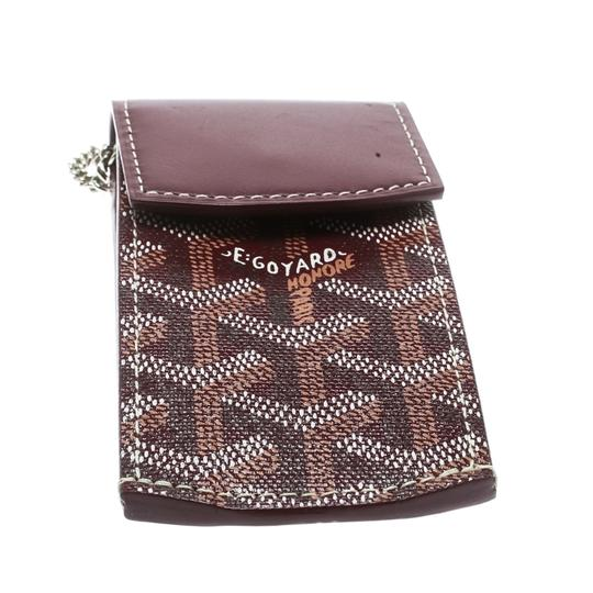 Goyard Burgundy Coated Canvas Portier GM Key Pouch Image 3