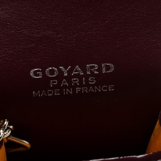 Goyard Burgundy Coated Canvas Portier GM Key Pouch Image 5