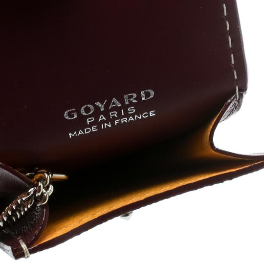 Goyard Burgundy Coated Canvas Portier GM Key Pouch Image 6