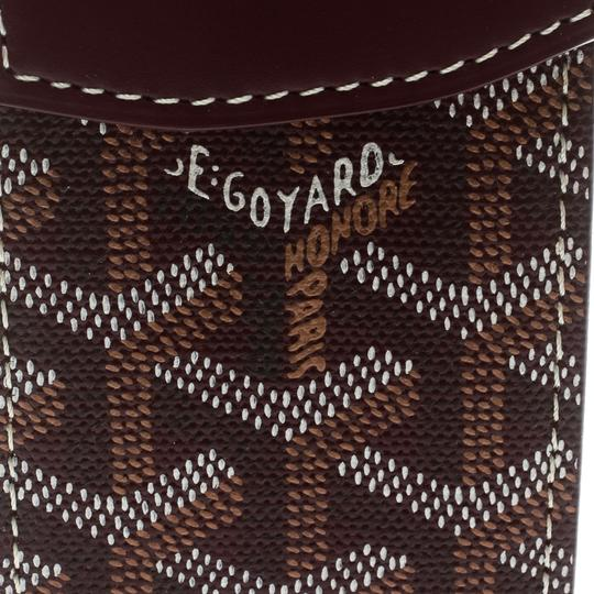 Goyard Burgundy Coated Canvas Portier GM Key Pouch Image 8