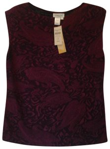 f876a0b5fad9 Coldwater Creek Casual Date Night Night Out Sleeveless Top Burgundy