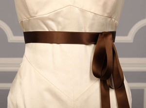 Brown Ribbon Sash