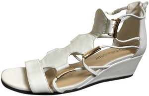 Bella Vita Gold Hardware white Sandals