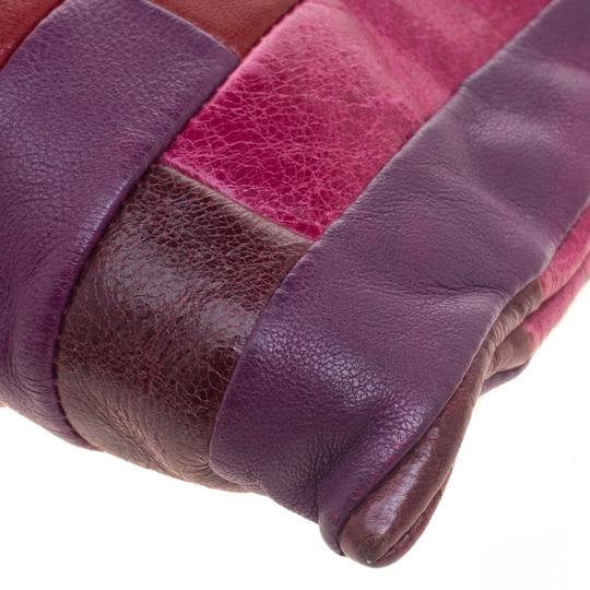 Miu Miu Leather Patchwork Wristlet in Multicolor Image 10