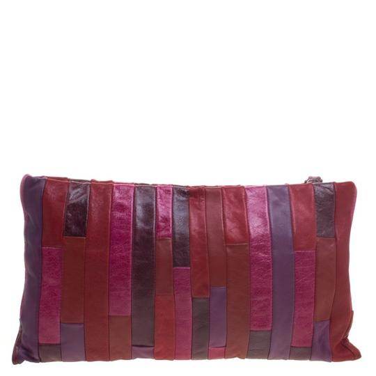 Miu Miu Leather Patchwork Wristlet in Multicolor Image 3