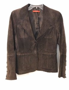 Patrizia Luca Suede brown Leather Jacket