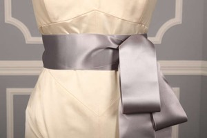 Grey Ribbon Sash