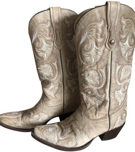 Corral Boots Floral Stitched Cowboy Western Bone Boots