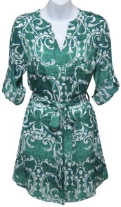 Collective Concepts short dress Green & White on Tradesy