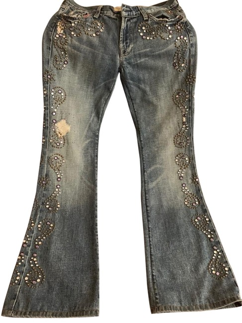 Item - Blue and Gray Light Wash Vintage Boot Cut Jeans Size 30 (6, M)