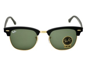 Ray-Ban Ray Ban Clubmaster Classic Sunglasses Black/ Green 51mm RB3016