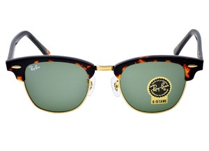 49c9c7421a962 Ray-Ban Ray Ban Clubmaster Classic Sunglasses Tortoise  Green Lens RB3016