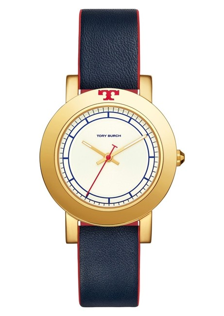 Item - Gold Navy Red Blue Box New Leather 36mm Watch