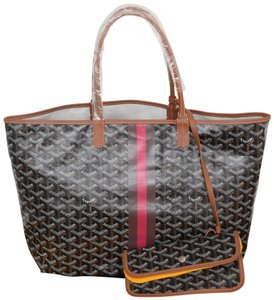 Goyard St Louis Pm Pm Neverfull Tote in Black and brown