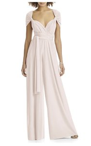fe358f233d8 Blush Maracaine Jersey Twist Wrap Jumpsuit Modern Bridesmaid Mob Dress Size  8 (M)