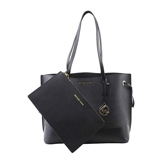Preload https://img-static.tradesy.com/item/25327383/michael-kors-trista-large-drawstring-saffiano-with-wristlet-black-leather-tote-0-0-540-540.jpg