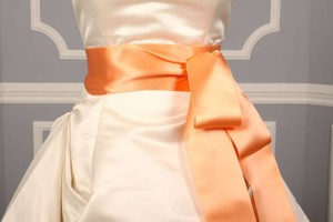 Peach Ribbon Sash