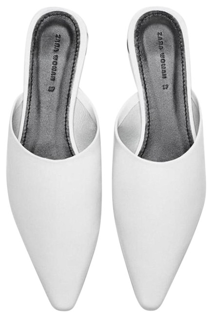 Item - White New Leather Sandals Loafers Mules/Slides Size US 8 Regular (M, B)