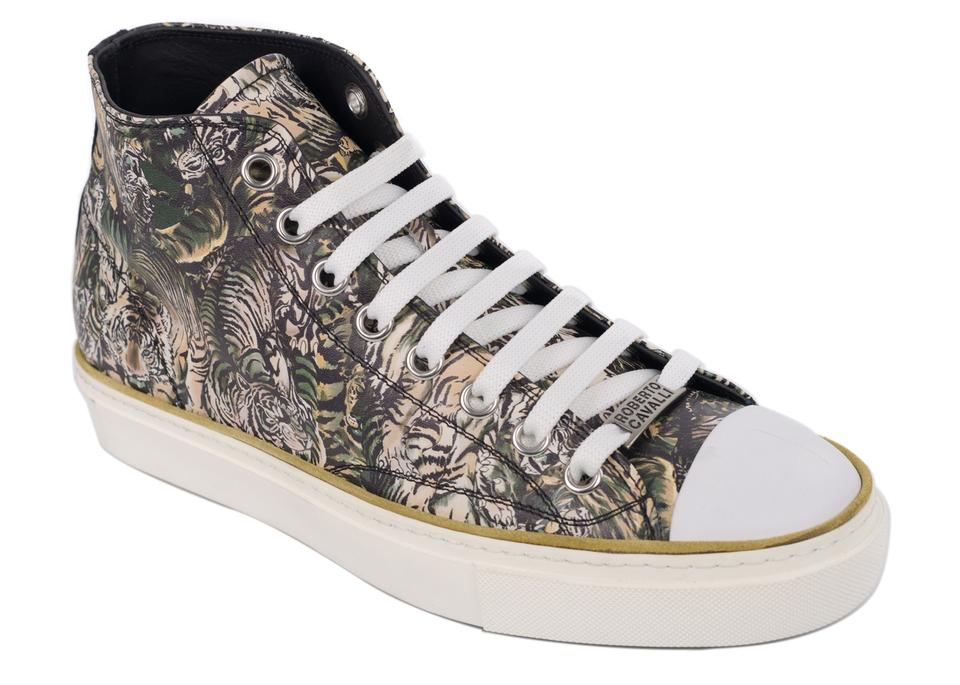 f288019d4e36a Roberto Cavalli Brown Womens Tiger High Top C3355 Sneakers Size US ...