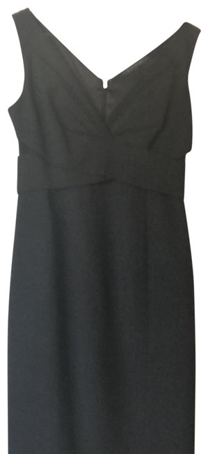 Item - Charcoal Grey Crossover Mid-length Work/Office Dress Size 0 (XS)