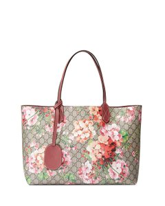 Gucci Gg Blooms Reversible Shopping Tote in Pink Rose
