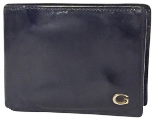 Gucci Gucci black bifold unisex leather wallet