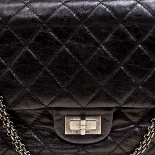 Chanel Quilted Leather 2.55 Classic Shoulder Bag Image 7
