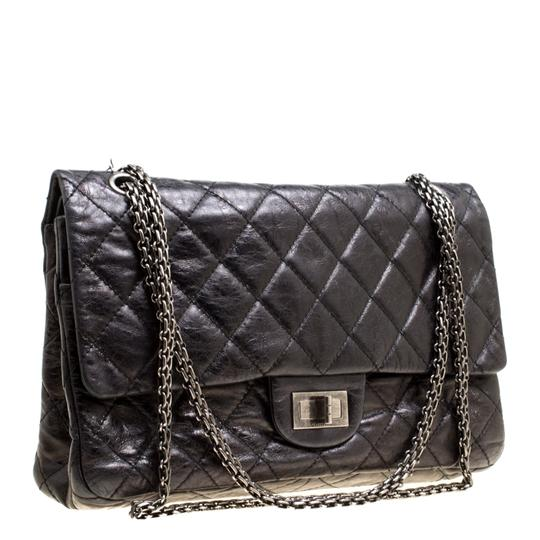 Chanel Quilted Leather 2.55 Classic Shoulder Bag Image 8