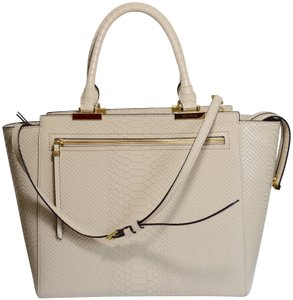 4c3c6f80e9ae Henri Bendel Lizard Print Leather Tote in Ivory