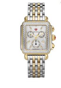 Michele Deco 18 Diamond Mother-of-Pearl and Two-Tone Watch
