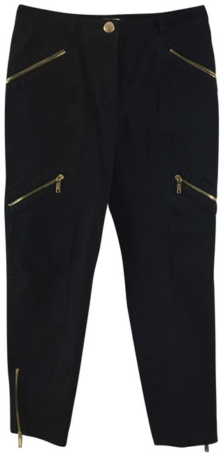 Item - Black Gold Dark Rinse W Cropped Trouser W/ Zippers Straight Leg Jeans Size 32 (8, M)