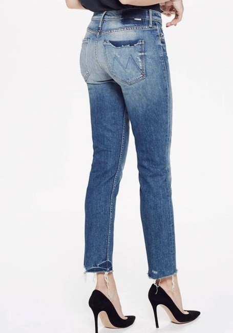 Mother Straight Leg Jeans-Distressed Image 1