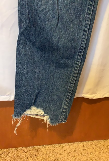 Mother Straight Leg Jeans-Distressed Image 4