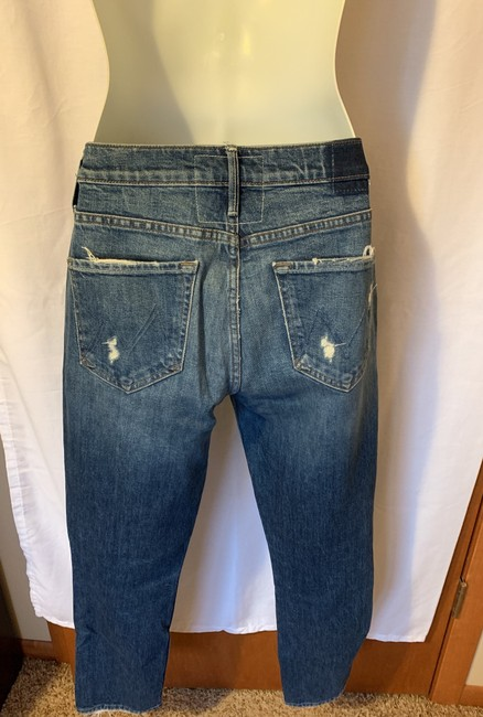 Mother Straight Leg Jeans-Distressed Image 6