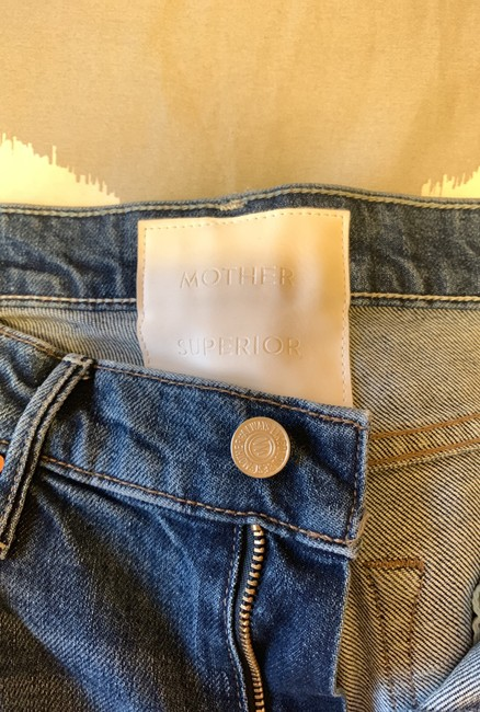Mother Straight Leg Jeans-Distressed Image 8
