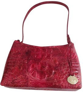 Brahmin Croc Emb Leather Small Size Satchel/Shoulder Evening Shoulder Bag