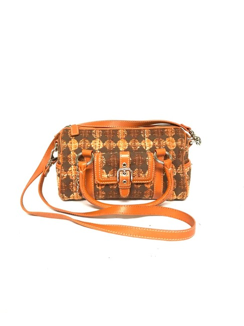 Item - Retro Orange Knit Cross Body Bag